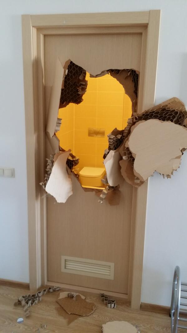 US Bobsledder gets stuck in bathroom