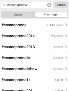 Cosmoprof North America Instagram Hashtag